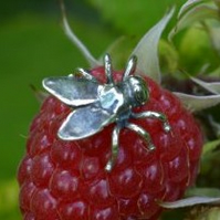 Sterling Silver Earrings - Pair: Flies
