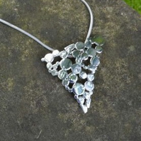 Sterling SIlver Pendant: Speckled