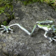 Sterling Silver Ornament: Tree Frog - Large