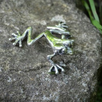 Sterling Silver Ornament: Tree Frog - small