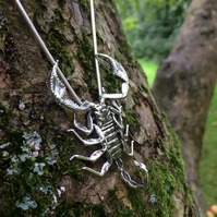 Sterling Silver Necklace: Yellow-Tailed Scorpion