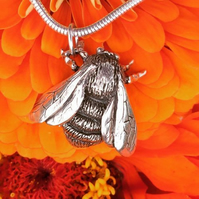 Sterling Silver Pendant: Queen Bumblebee