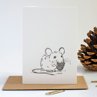 Mini letterpress mouse notecards A7