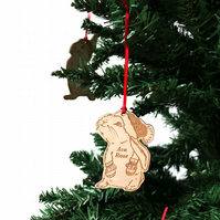 rabbit christmas tree decorations, daughter, girl bunny rabbit decoration