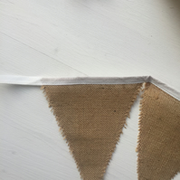 Burlap wedding bunting for home decorating