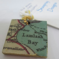 Map Extract Pendant (Isle of Arran)