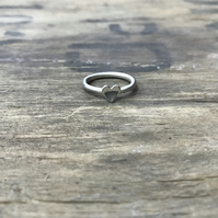 'Love Heart' stacking ring