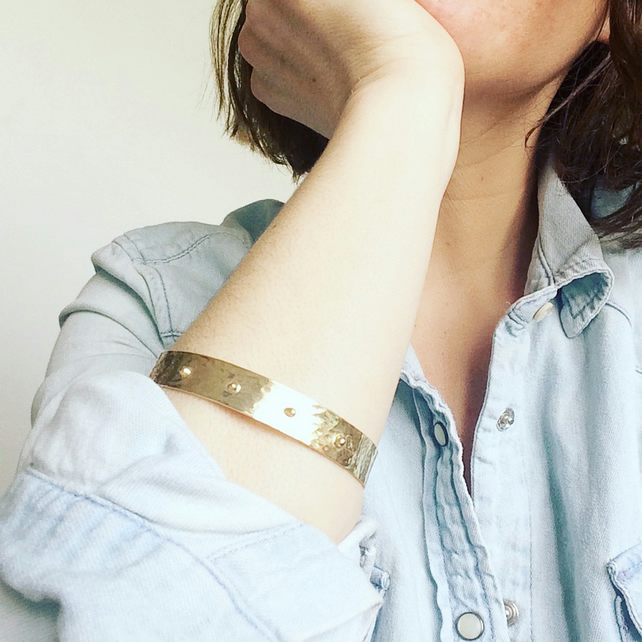 Elodie Studded Silver Bangle