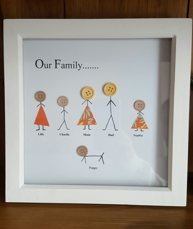 Personalised Wooden Box Frame Quot Our Family Folksy
