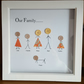 "Personalised Wooden Box Frame ""Our Family """