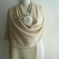 Bridal Wrap knitted lambswool