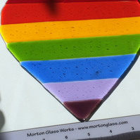 Large Fused Glass Heart