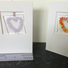 Fused glass, zodiac coloured, keepsake cards
