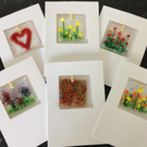 (Set of 6) Fused Glass Keepsake Cards