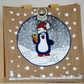 Percy the Penguin Bauble, Hand Painted and Decorated, Jute Tote Bag