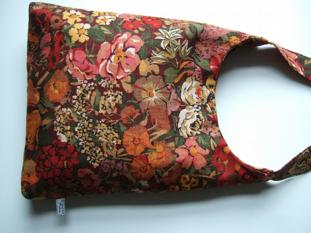 Autumn vintage fabric shoulder bag F1