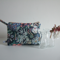 Pastel floral vintage Liberty toiletries make up or storage bag