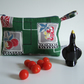 Vintage kitchenalia fabric purse, make up, or toiletries bag  with zip opening