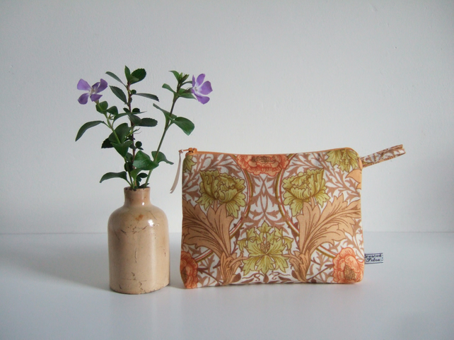Toiletries or make up bag in vintage Sanderson fabric.