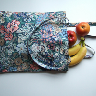 Vintage floral Liberty fabric tote or book bag.