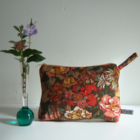 Vintage Liberty fabric toiletries, cosmetics, or make up bag.