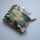 Vintage Sanderson fabric woodland glen cosmetics or make up bag