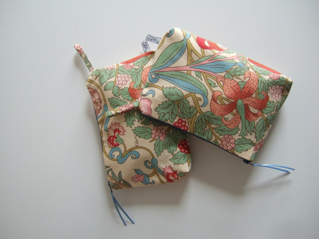 Vintage Liberty fabric make up, or toiletries bag.Present for Mum.
