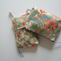 Vintage Liberty fabric make up, or toiletries bag. Mother's Day gift.
