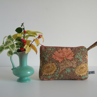 Toiletries or make up bag made from a vintage Sanderson print.