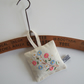 Vintage embroidered floral lavender bag with dried Yorkshire lavender