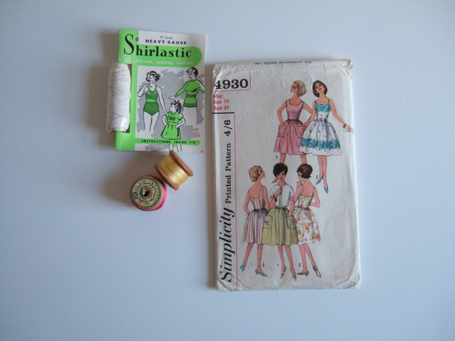 Vintage sewing or dressmaking pattern for a sundress.Original 1960's design