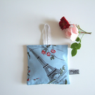 Lavender bag made in vintage Eiffel Tower fabric with dried Yorkshire lavender.