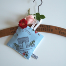 Lavender bag in vintage 1950's Arc de Triomphe print and Yorkshire lavender.