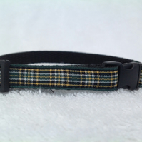 Handmade Irish National Tartan Cat Collar