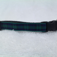 Handmade Black Watch Tartan Cat Collar
