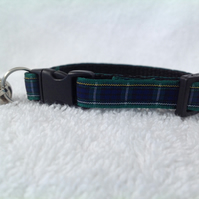 Handmade Campbell Tartan Cat Collar
