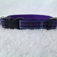 Handmade Bannockburn Tartan Cat Collar