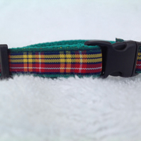 Handmade Buchanan Tartan Cat Collar