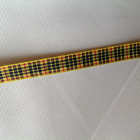 Handmade MacLeod Tartan Cat Collar With Safety Clip and Bell