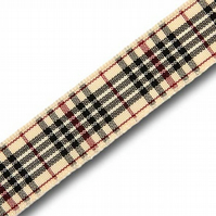 Handmade Scottish Blackberry Tartan Dog Lead - 25mm Wide x 1m Long