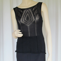 Silk Camisole in Knitted Lace