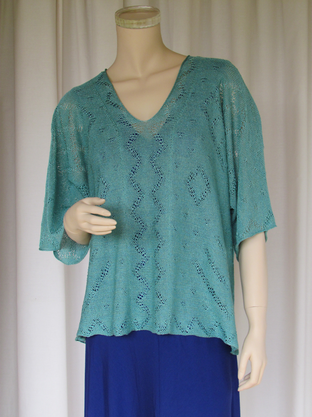 Cover-up Knitted Top in Linen Lace