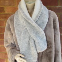 Faux-Fur Alpaca knitted Scarves Large