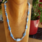 Blue opal andd sterling silver necklace