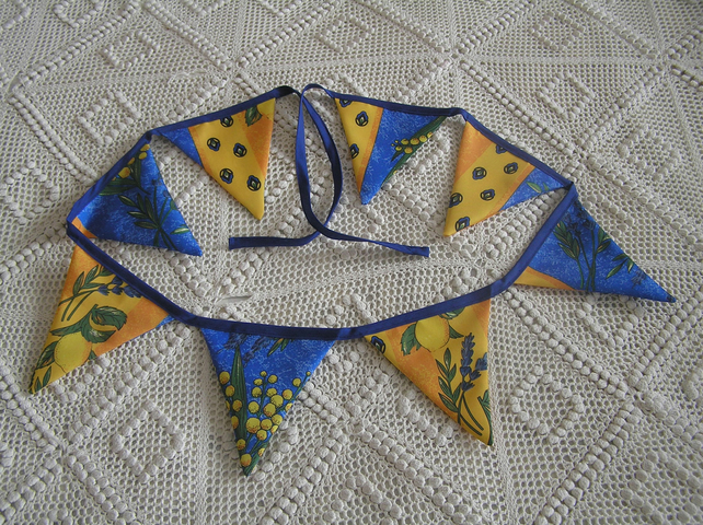 Sunny coloured bunting