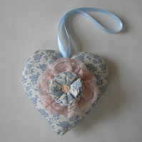 Lavender scented heart, hanging decoration, birthday gift, teachers gift