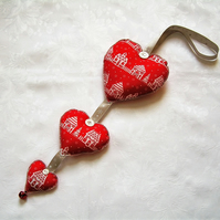 Christmas hanging heart decoration