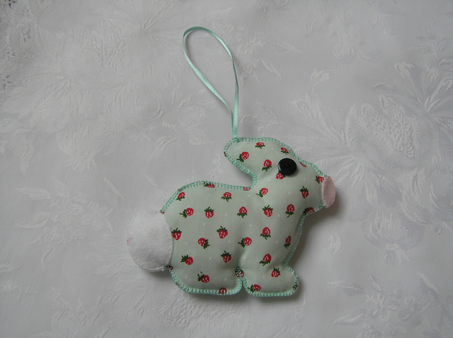 Green rabbit, lavender scented,hanging decoration, girls gift