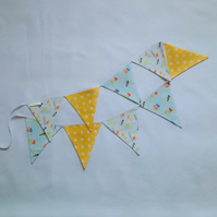 Nursery bunting, garland, animal bunting, white, blue, yellow, baby gift