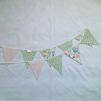 Bunting, white, summer design, mint green, picnics, strawberries, kitchen